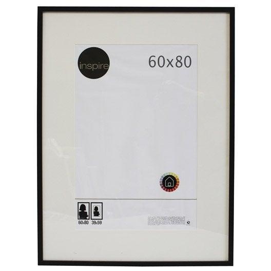 cadre lario 60 x 80 cm noir noir n 0 leroy merlin. Black Bedroom Furniture Sets. Home Design Ideas