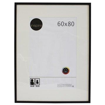 Cadre bois INSPIRE Lario, 60 x 80 cm, noir noir n°0