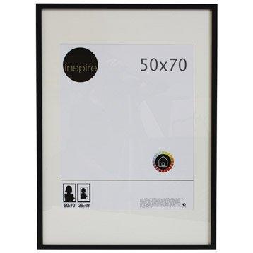 cadre bois inspire lario 50 x 70 cm noir noir n 0. Black Bedroom Furniture Sets. Home Design Ideas