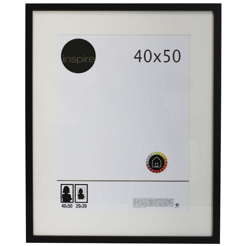 Cadre Lario 40 X 50 Cm Noir Noir N 0 Leroy Merlin