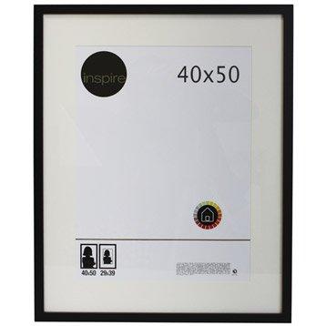 Cadre Lario, 40 x 50 cm, noir-noir n°0