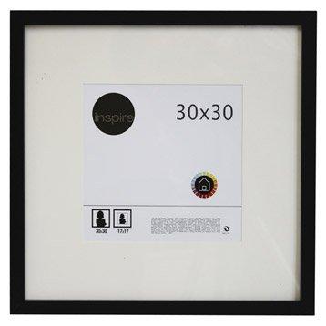 cadre bois inspire lario 30 x 30 cm noir noir n 0. Black Bedroom Furniture Sets. Home Design Ideas