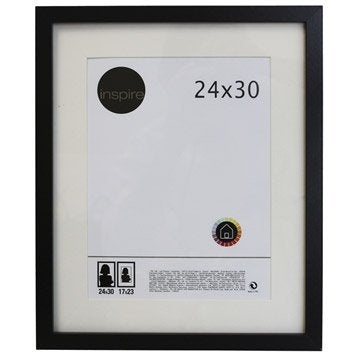 Cadre Lario, 24 x 30 cm, noir-noir n°0