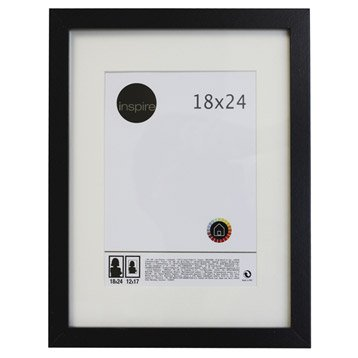 Cadre bois INSPIRE Lario, 18 x 24 cm, noir noir n°0