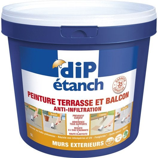 Traitement d 39 tanch it sol terrasse balcon dip gris 5 for Peinture sol terrasse