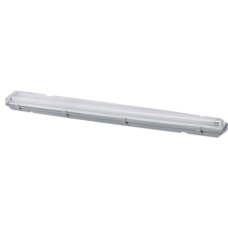 Réglette Etanche Fluorescent à Double Culot 2 X 36 W G13 Blanc
