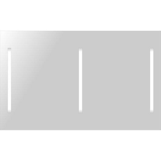 Miroir lumineux rectangulaire fluo 120x74 cm leroy merlin - Miroir lumineux leroy merlin ...