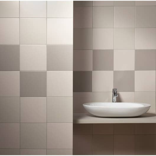 Catalogue Keuco Salle De Bain ~ fa ence mur blanc ivoire astuce l 20 x l 20 cm leroy merlin