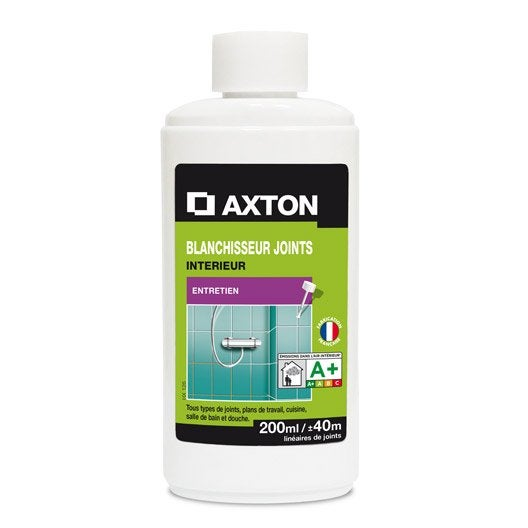 Blanchisseur joints axton 200ml leroy merlin for Produit pour joint de carrelage