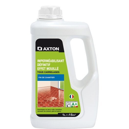 Imperm abilisant hydrofuge tous supports axton 1l for Nettoyer carrelage brillant