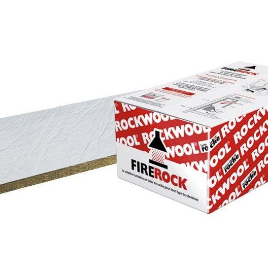 10 panneaux en laine de roche firerock rockwool r ler - Coefficient r laine de roche ...
