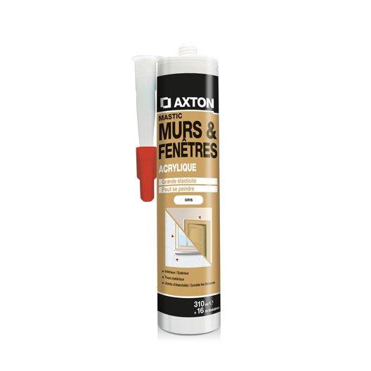 Mastic d 39 tanch it axton mur et fen tre 310 ml gris for Mastic fenetre bois