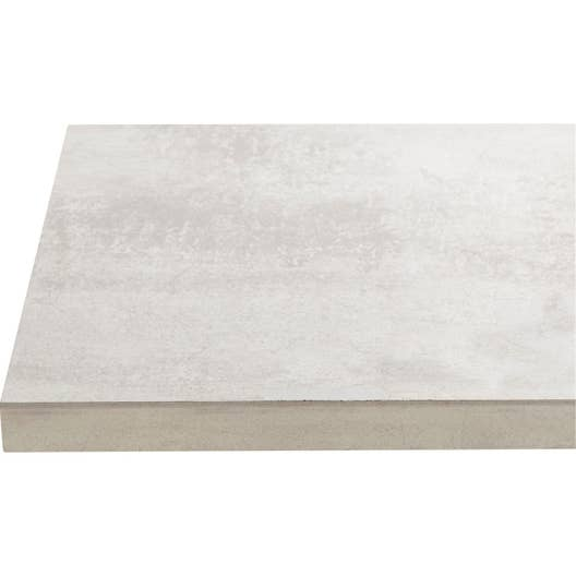 plan de travail stratifi effet b ton blanc mat x cm mm leroy merlin. Black Bedroom Furniture Sets. Home Design Ideas