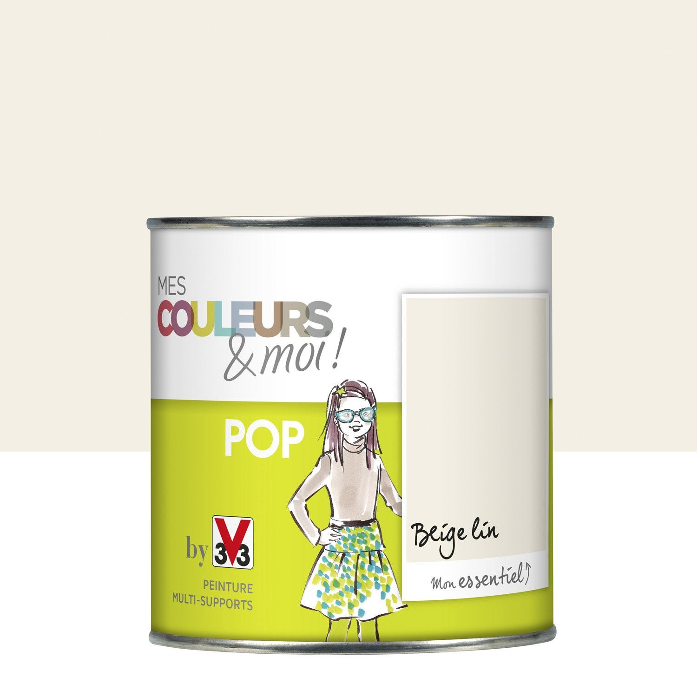 Peinture Beige Lin Satin V33 Mes Couleurs Et Moi Pop 0 5 L Leroy