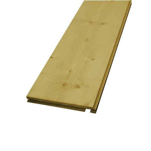 Planche de rive sapin 22x190 mm 4 m leroy merlin for Planche de coffrage leroy merlin 4m