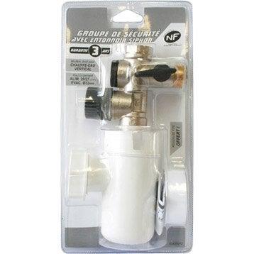 Accessoires pour chauffe eau lectrique groupe de for Siphon groupe de securite