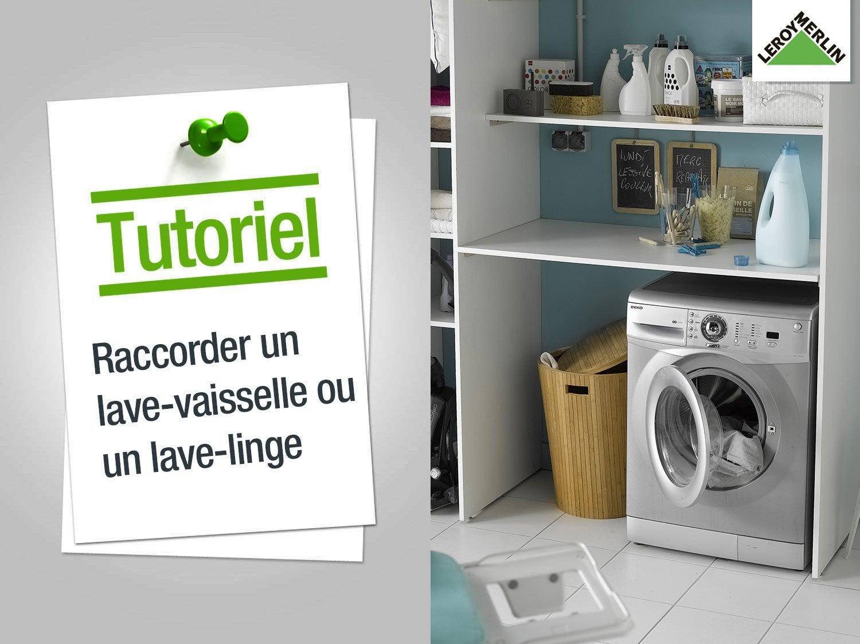 Raccord jonction droit machine laver visser plastique pour tuyau souple leroy merlin - Installer un lave vaisselle ...