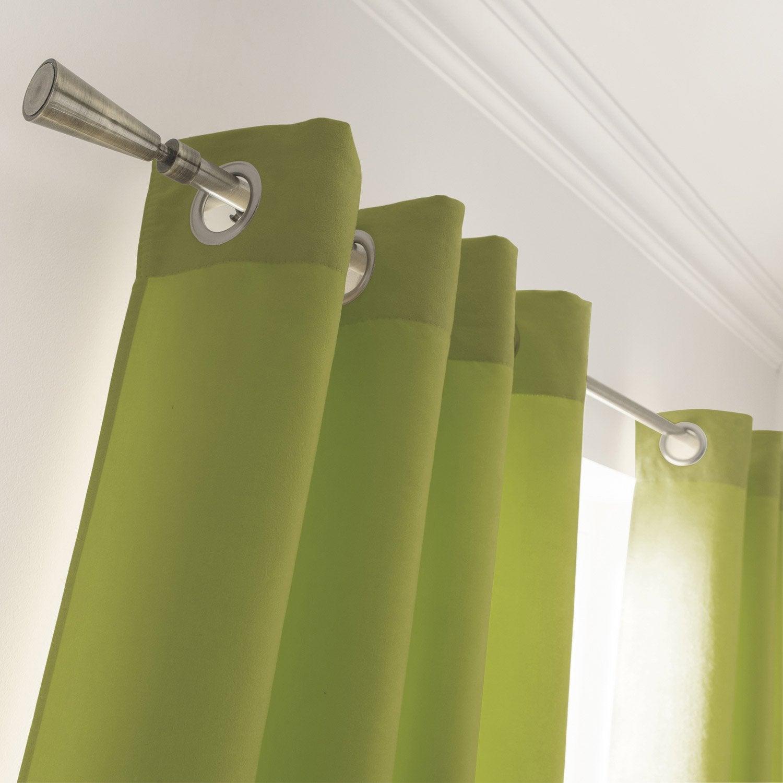 rideau de couleur vert kaki photo. Black Bedroom Furniture Sets. Home Design Ideas