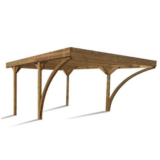 carport bois harold 2 voitures m leroy merlin. Black Bedroom Furniture Sets. Home Design Ideas