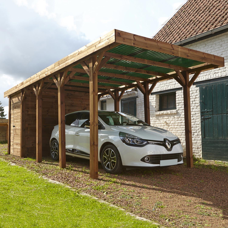 Carport Pour Voiture carport bois harry 1 voiture, 17 m² | leroy merlin