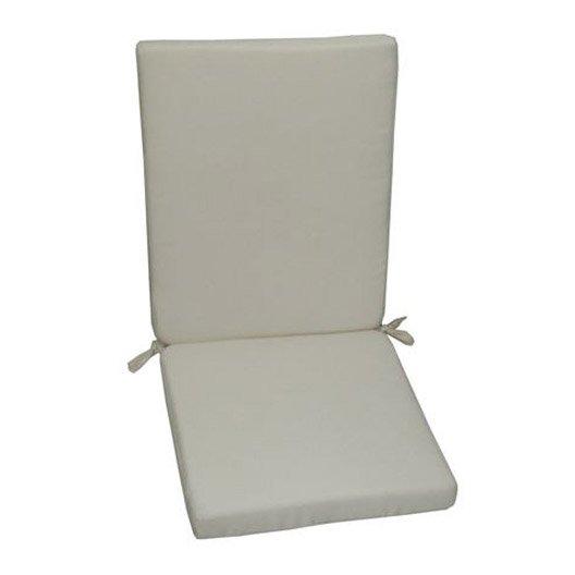 Coussin d 39 assise et dossier de chaise ou de fauteuil blanc for Coussin d assise exterieur