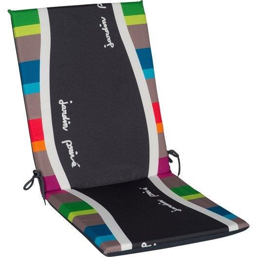 Coussin d 39 assise et dossier de chaise ou de fauteuil vert - Coussin de chaises de jardin ...
