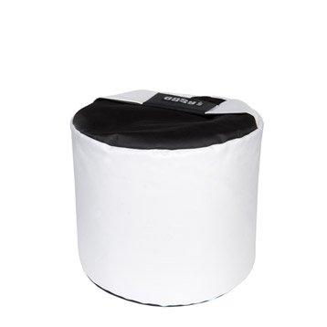 Pouf de sol blanc Mini-curl JARDIN PRIVE