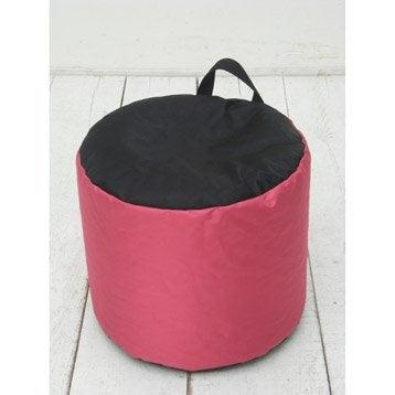 Pouf de sol rose Mini-curl JARDIN PRIVE