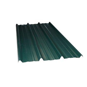 Plaque nervurée acier galvanisé vert ONDOMETAL l.1.05 x L.3 m