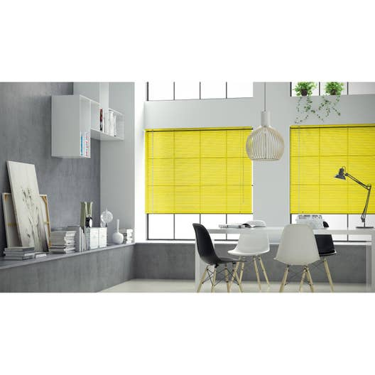 store v nitien aluminium jaune anis n 4 x cm leroy merlin. Black Bedroom Furniture Sets. Home Design Ideas