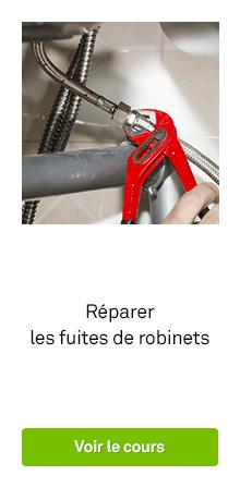 BZ CAMPUS Réparer les fuites de robinets