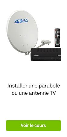 R partiteur amplificateur coupleur r ception tv leroy merlin - Comment installer une antenne tv exterieure ...