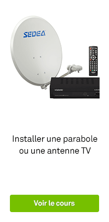 accessoires installation antenne et parabole leroy merlin. Black Bedroom Furniture Sets. Home Design Ideas