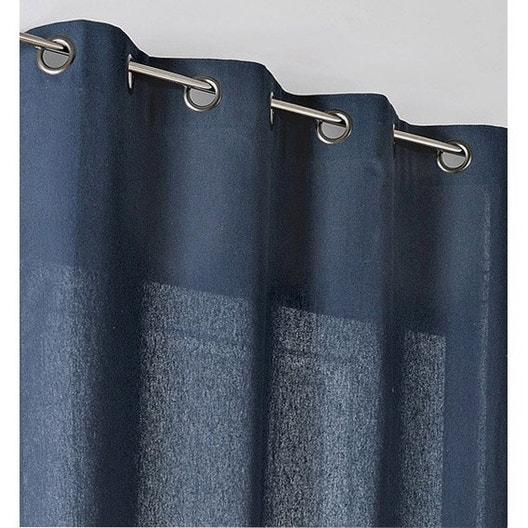 rideau tamisant metis bleu nuit x cm leroy merlin. Black Bedroom Furniture Sets. Home Design Ideas