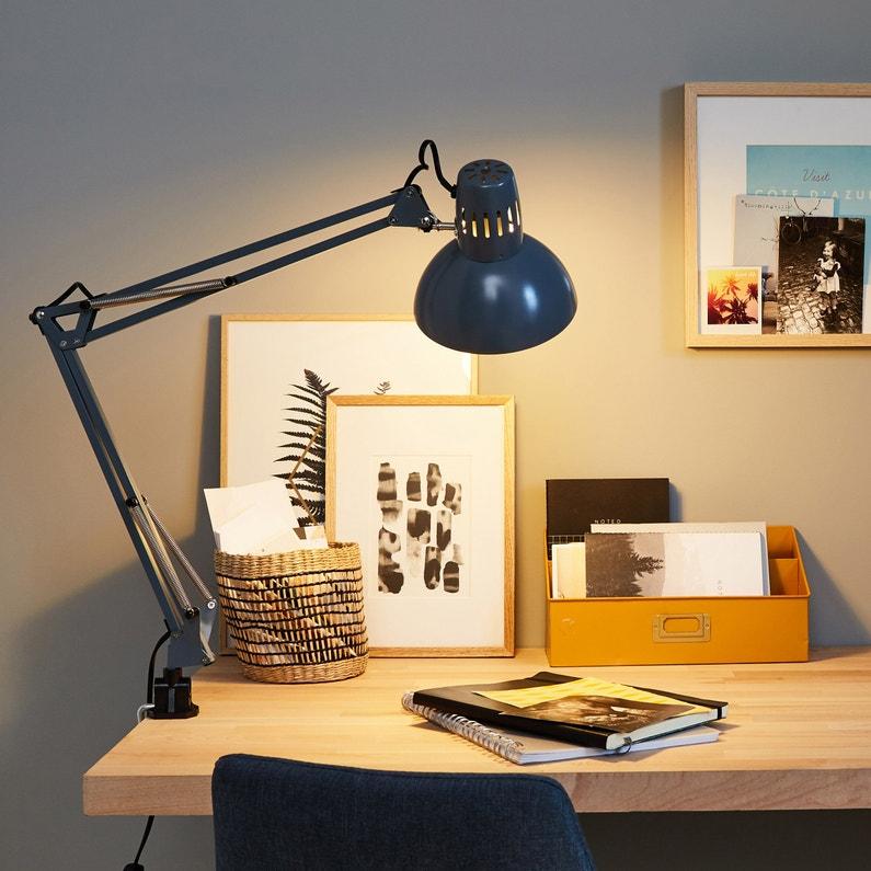 Lampe De Bureau E27 à Poser Gris Arquitecto Inspire