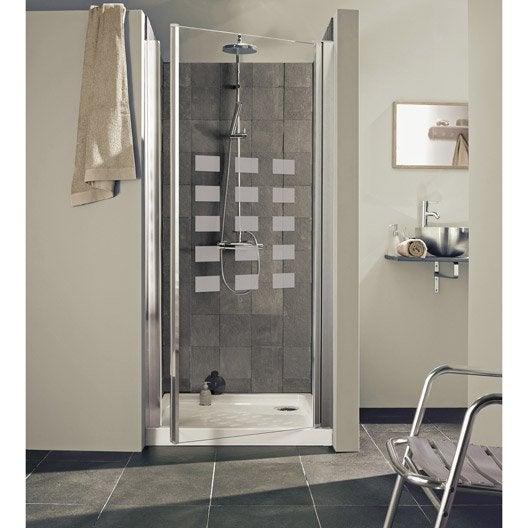Porte de douche pivotante THALA Hekla, verre de sécurité ...
