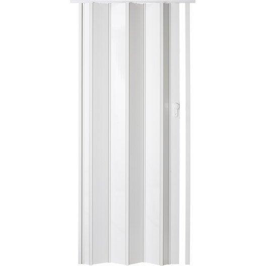 Porte extensible ibiza blanc brillant 205 x 85 cm pais for Portes accordeon leroy merlin