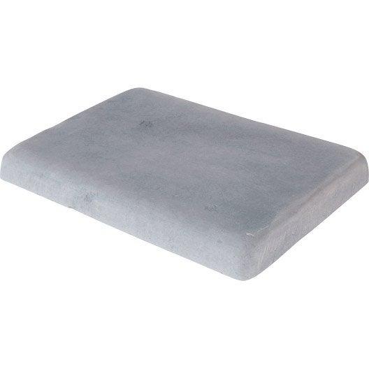 margelle castel en pierre reconstitu e gris bleu x x ep 5 cm leroy merlin. Black Bedroom Furniture Sets. Home Design Ideas