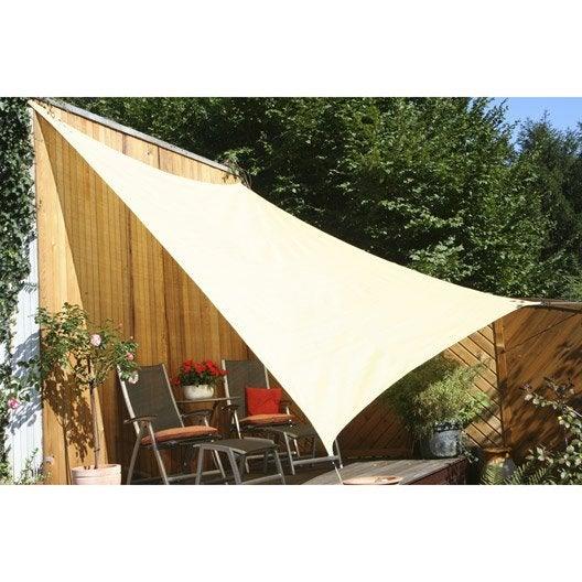 Voile d 39 ombrage tonnelle pergola et toiture de terrasse leroy merlin - Leroy merlin voile d ombrage ...