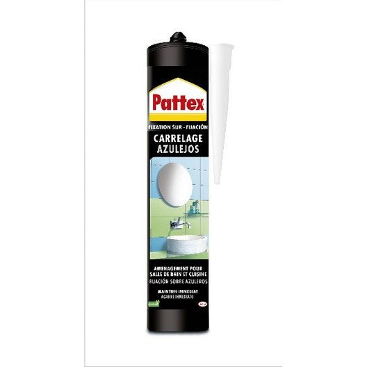 Colle mastic carrelages pattex 450 g leroy merlin for Colle carrelage
