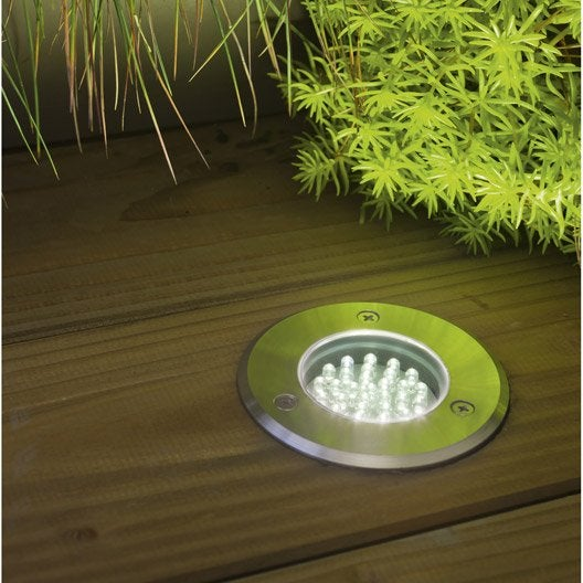 spot encastrer ext rieur acier inoxydable 3 watts. Black Bedroom Furniture Sets. Home Design Ideas