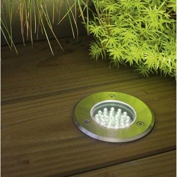 Spot à encastrer extérieur diam. 7.5 cm acier inoxydable