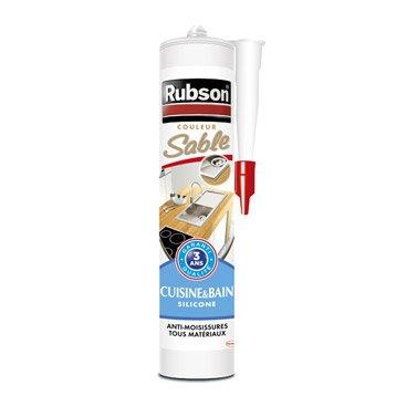 Mastic d'étanchéité RUBSON cuisine et bain B&cuisine 280 ml sable