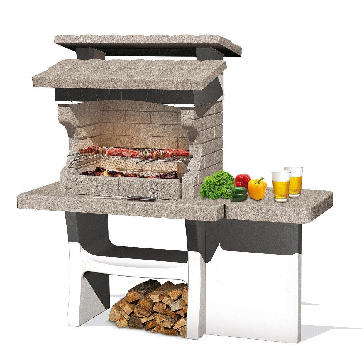 barbecue en b ton beige et gris luxor x x cm leroy merlin. Black Bedroom Furniture Sets. Home Design Ideas