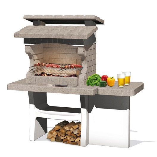 barbecue fixe barbecue b ton barbecue en pierre leroy merlin. Black Bedroom Furniture Sets. Home Design Ideas
