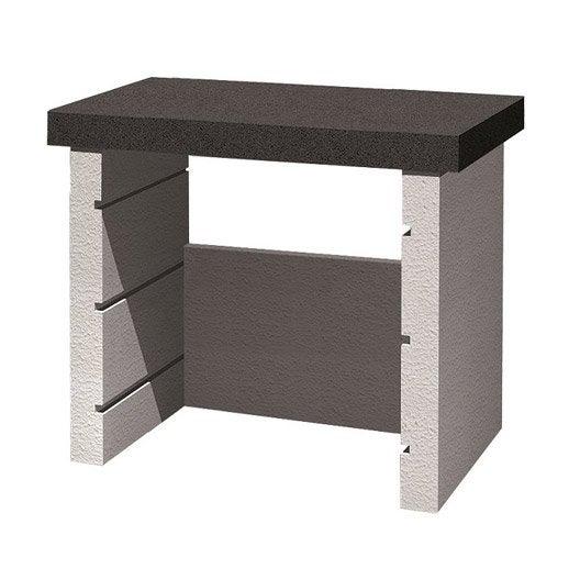 support plancha en b ton beige et gris happy steffy x x cm leroy merlin. Black Bedroom Furniture Sets. Home Design Ideas