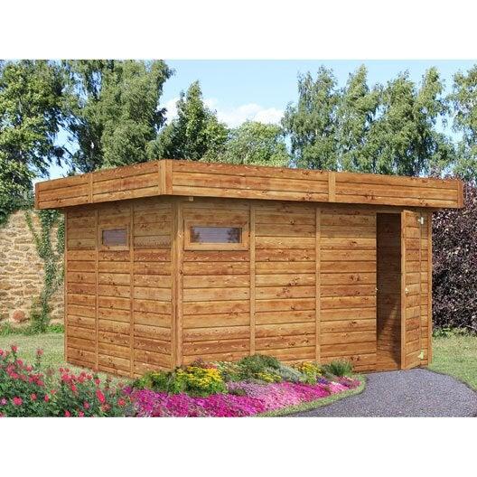 abri de jardin bois pavi 94 m ep19 mm - Abri De Jardin Garage