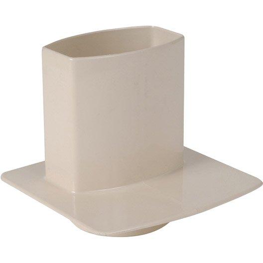 pied de chute pvc sable girpi d cm mm leroy merlin. Black Bedroom Furniture Sets. Home Design Ideas