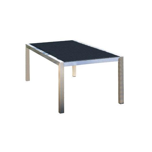 table de jardin pacific rectangulaire gris argent 8 personnes leroy merlin. Black Bedroom Furniture Sets. Home Design Ideas