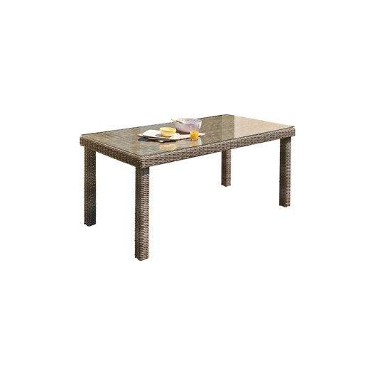 table de jardin el gance rectangulaire gris 6 personnes leroy merlin. Black Bedroom Furniture Sets. Home Design Ideas